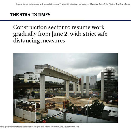 Construction sector to resume work gradually from June 2, with strict safe distancing measures