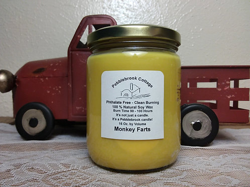 Monkey Farts 100% Natural Soy Wax Candle