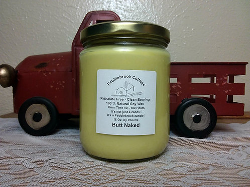 Butt Naked 100% Natural Soy Wax Candle