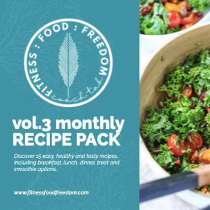 Vol. 3 MONTHLY    Recipe Pack