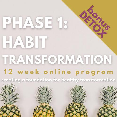 PHASE 1: HABIT TRANSFORMATION - 12 Week Program