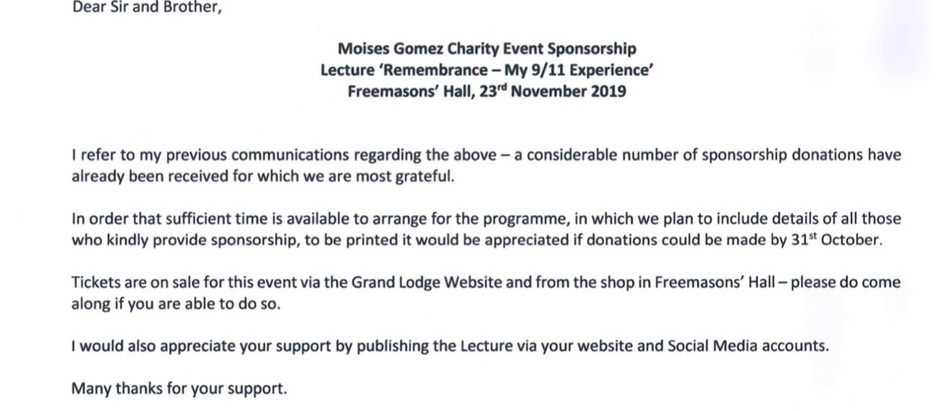 Moises Gomez Charity Event