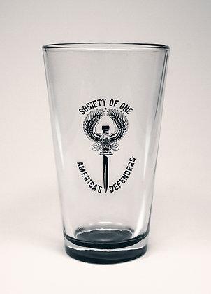 Smoked Glazed Pint Glass