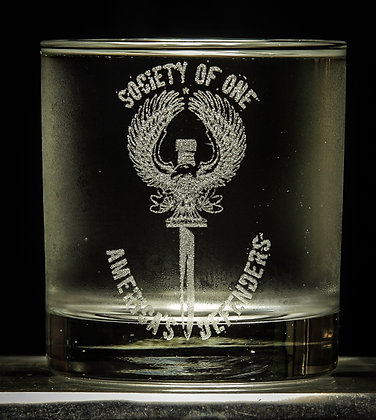 Laser Etched Cocktail Glass
