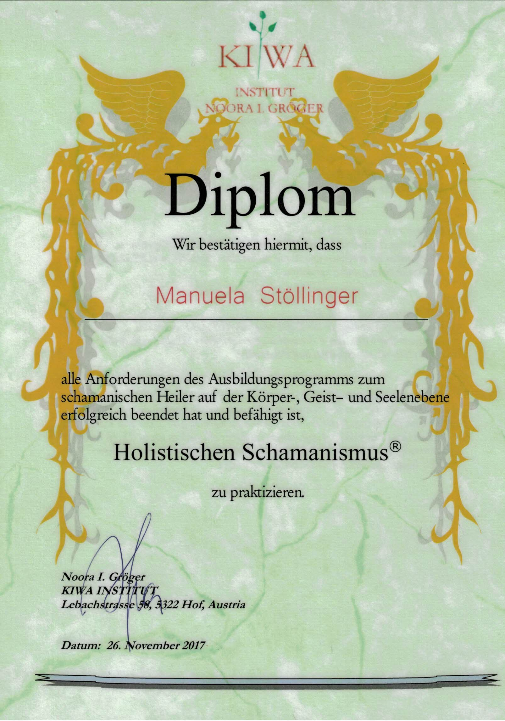 Diplom Hollistischer Schamanismus