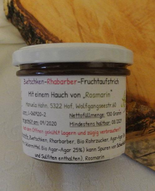 Zwetschken Rhabarber Fruchtaufstrich mit einem Hauch von Rosmarin