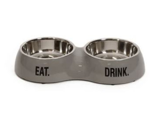 H&T Dinner Bowl Double Stone Grey SMALL