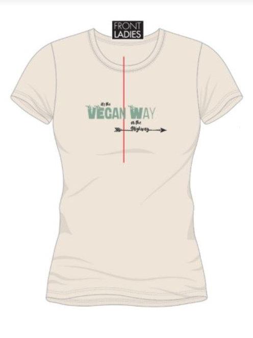 T-Shirt Vegan Way Natural Raw