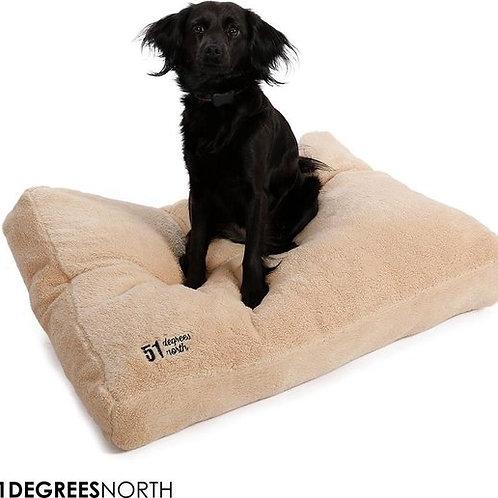 Teddy Box Pillow Beige L 115x80