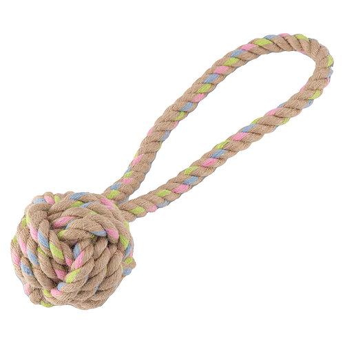 Beco Rope Hemp Ball With Loop Medium