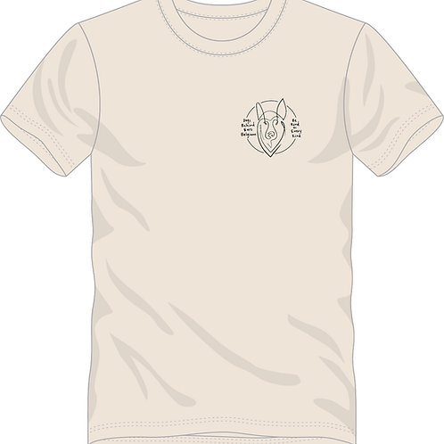 T-Shirt Uniseks Natural Raw