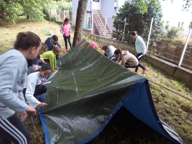 Construimos nuestro refugio