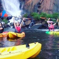 kayak en cascada de ezaro