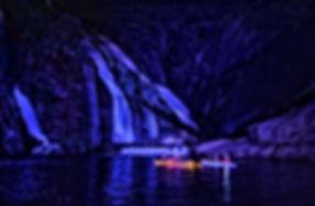 Ruta nocturna cascada de ezaro