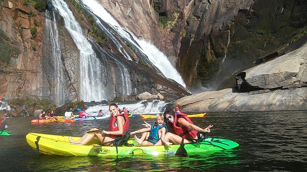 Rutas en kayak Cascada de Ezaro