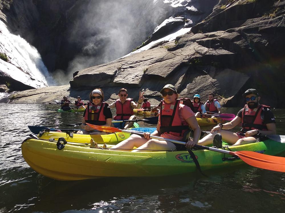 Ruta en kayak por la Cascada de Ezaro