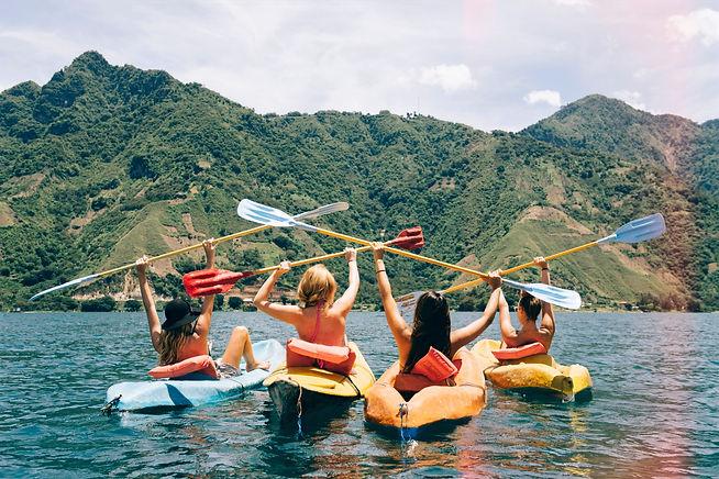 Kayak en el Ezaro