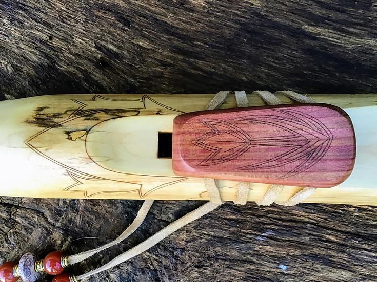 Elderberry/Plum Flute in Low C Minor