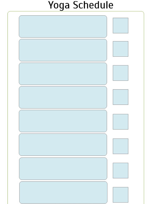 Printable Yoga Schedule