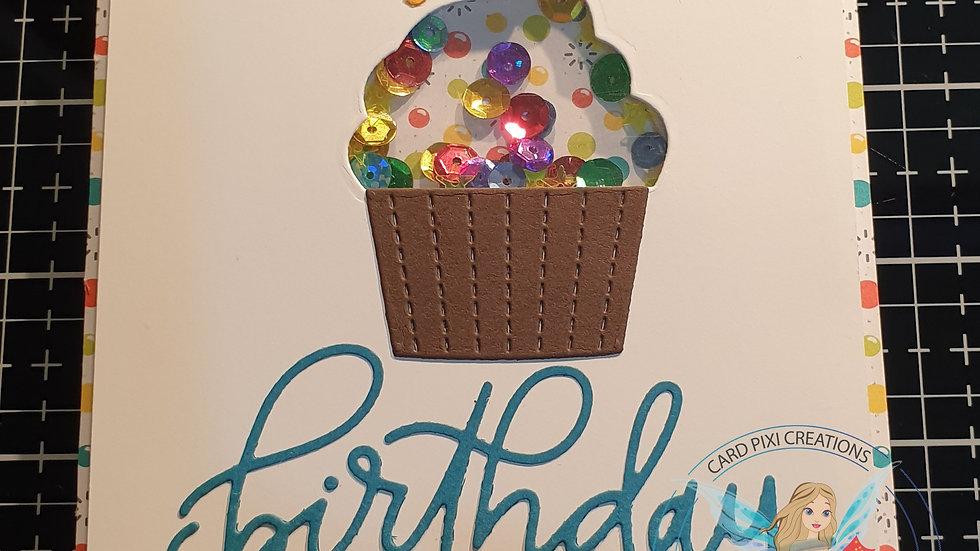 Birthday wishes cupcake shaker