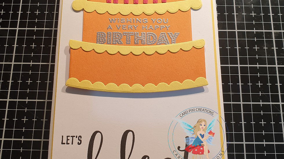Birthday cake pop-up card (interactive)