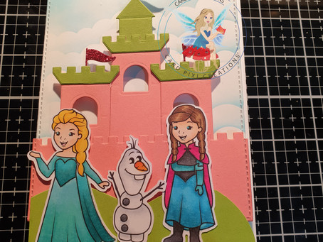 Frozen card for a four year old