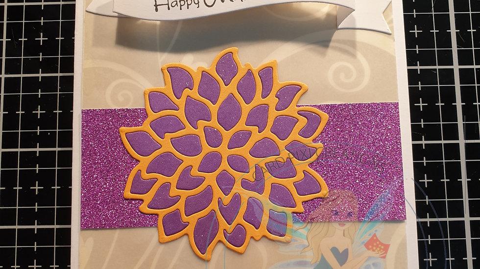 Happy mothers day (purple flower)