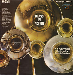 Fairey Engineering Band-Brass in Action LP Record Cover