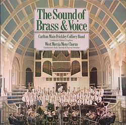Carlton Main Frickley - The Sound of Brass and Voice LP Record Cover