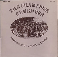 Brighouse and Rastrick--Champions Remember LP Record Cover