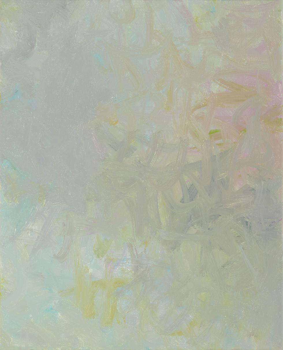 Sans titre (BG 01-04), 2017, acrylique sur toile, 41 x 33 cm