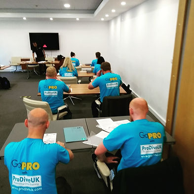 The PADI Instructor Exam orientation session with eight Pro Dive UK IDC Candidates
