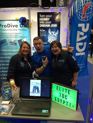 Andy Torbet supporting the ProDiveUK stand at the Go Diving Show