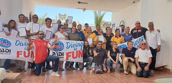 Successful PADI IE candidate at the Sharm el Sheikh IE