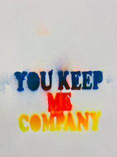 "spray paint on paper, 11""x14"""