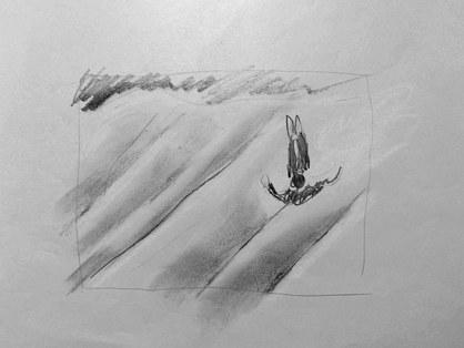 "graphite on paper, 11""x14"""