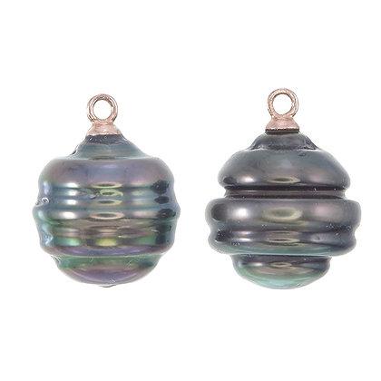 Circled Tahitian Pearl Drops