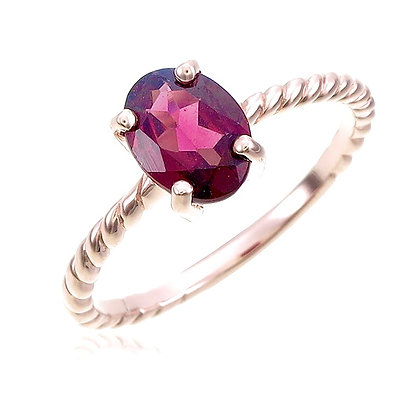Oval Cut Garnet Ring