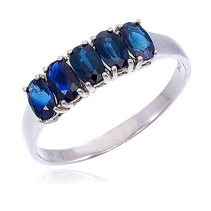 Oval Cut Blue Sapphire Ring