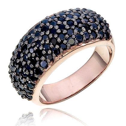 Black Spinel Cluster Ring