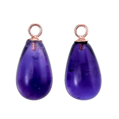Purple Amethyst Smooth Teardrops