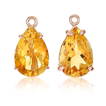 Pear Cut Citrine Drops