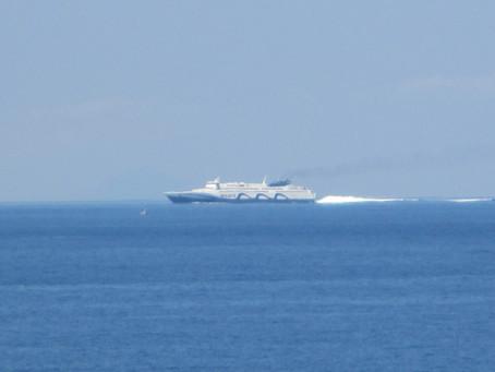 Passenger Ships in Santorini on 13-14 July 2019