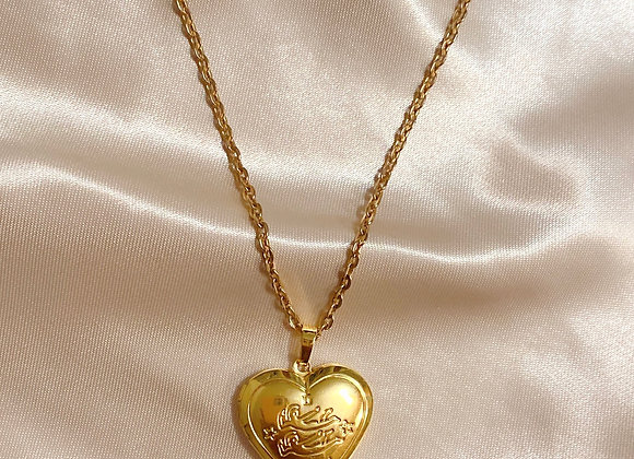 Gemini Zodiac Heart Locket