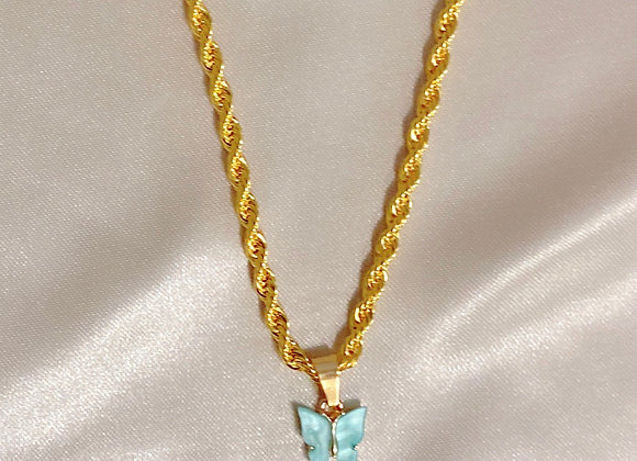 Blue Butterfly Rope Chain