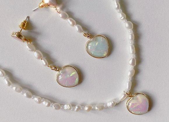 Enchanted Heart Pearl Set