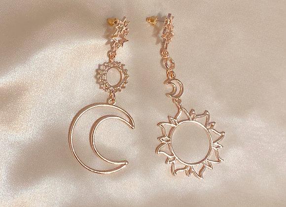 Sun, Moon and Stars Earrings