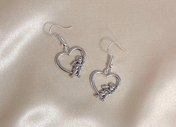 Cherub Heart Earrings