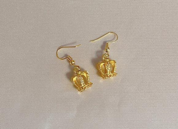 Crown Charm Earrings