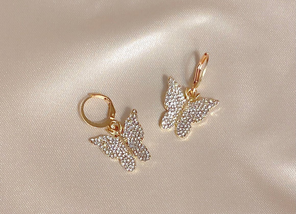 Diamond Butterfly Huggies